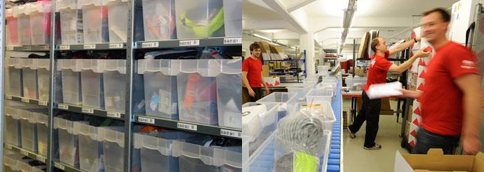 Mere end 25.000 varer ligger på vores lager; på dage med spidsbelastning behandler vi mere end 1.600 ordrer