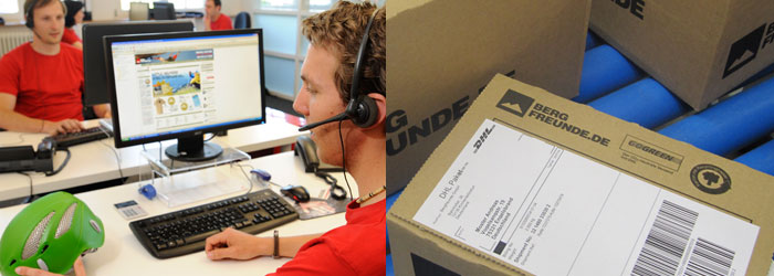 Vi er der for dig! Vores kundeservice rådgiver - logistikken sørger for en hurtig levering